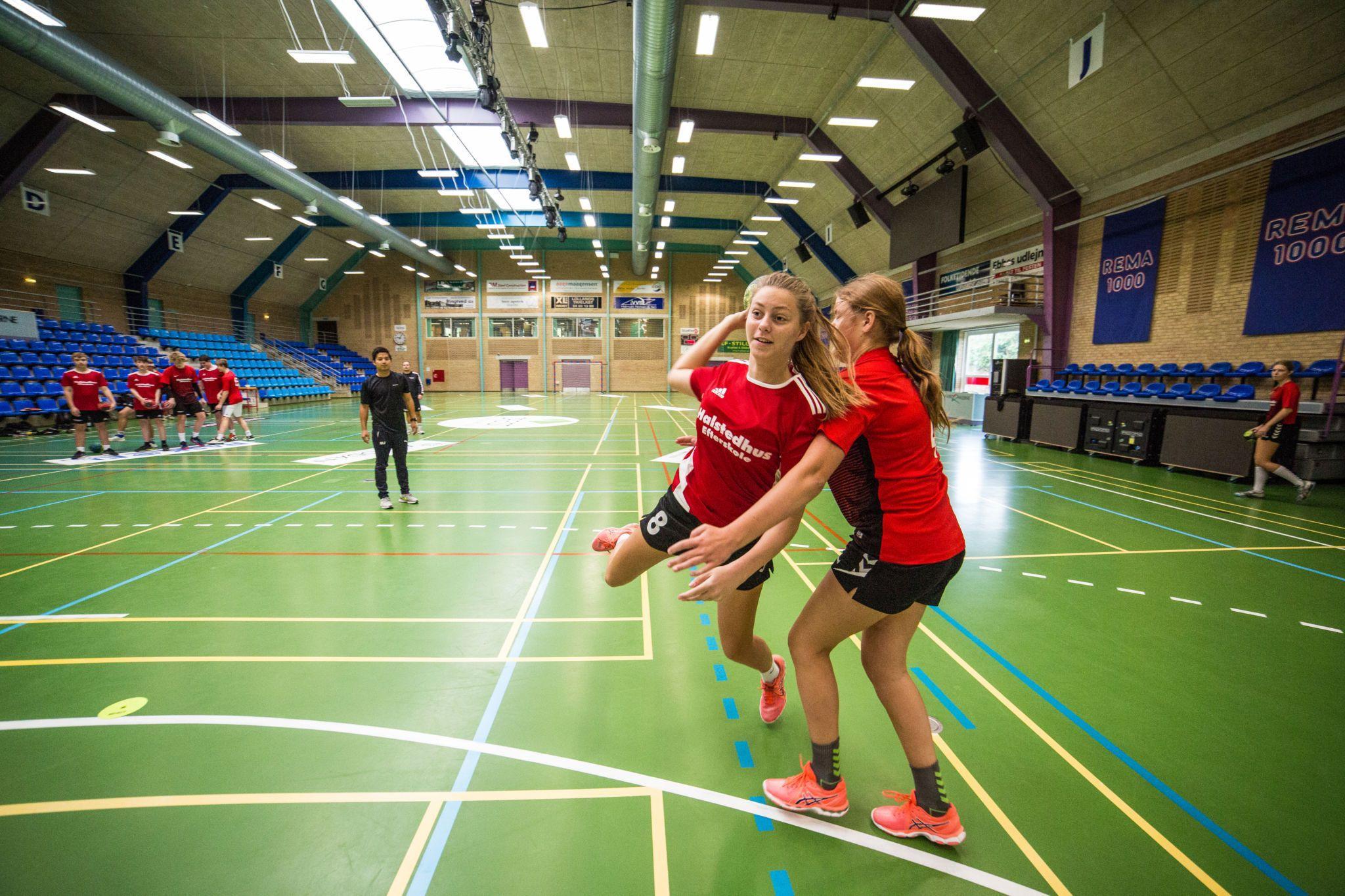 Håndboldhallen på Halstedhus Efterskole