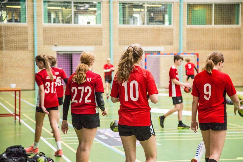 Håndboldtræning på Halstedhus