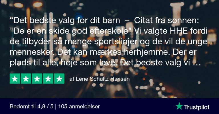 Trustpilot Review - Lene Schultz Hansen